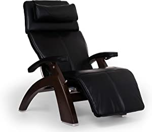 "Perfect Chair ""PC-610"" Premium Leather Zero-Gravity Hand-Crafted Therapeutic Dark Walnut Power Recliner"