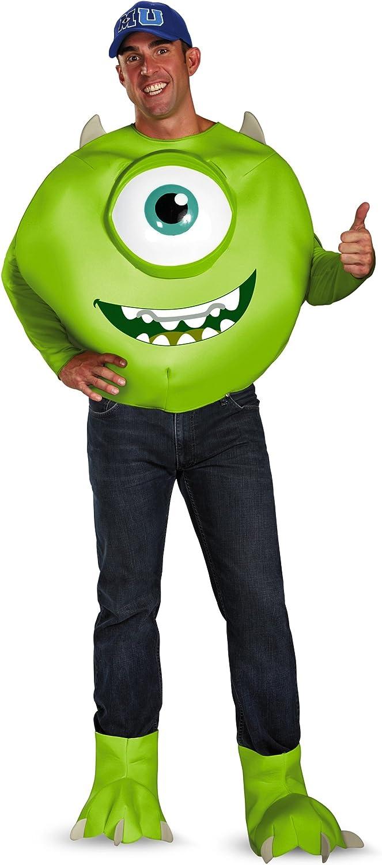Monster Uni Kostum.Amazon Com Mike Wazowski Deluxe Adult Costume Xx Large Clothing
