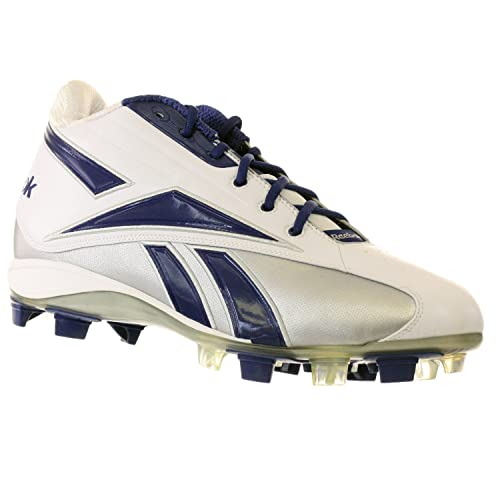 639a9a6516848e NFL THORPE D4 BY REEBOK 20-137671 ADULT MALE FOOTBALL CLEATS  BLUE-Silver-White Size15M  Amazon.ca  Shoes   Handbags