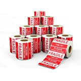 Anylabel 3 x 2 inch Handle with Care Fragile Thank You Warning Packing Shipping Label Stickers Permanent Adhesive (12…