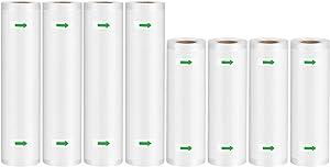 Syntus Vacuum Sealer Bags 8 Pack Commercial Grade Food Saver Bag Rolls, 4 Roll 8