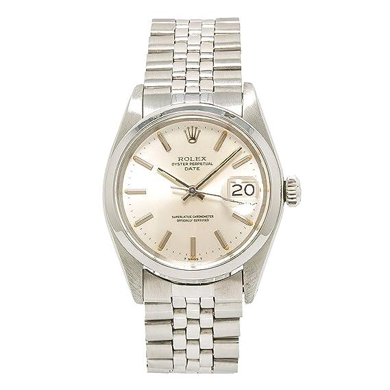 Rolex Fecha automatic-self-wind Mens Reloj 1500 (Certificado) de segunda mano