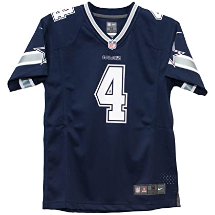 Dallas Cowboys Youth Dak Prescott  4 Nike Navy Game Replica Jersey (Youth  Small) dc6f96a5b