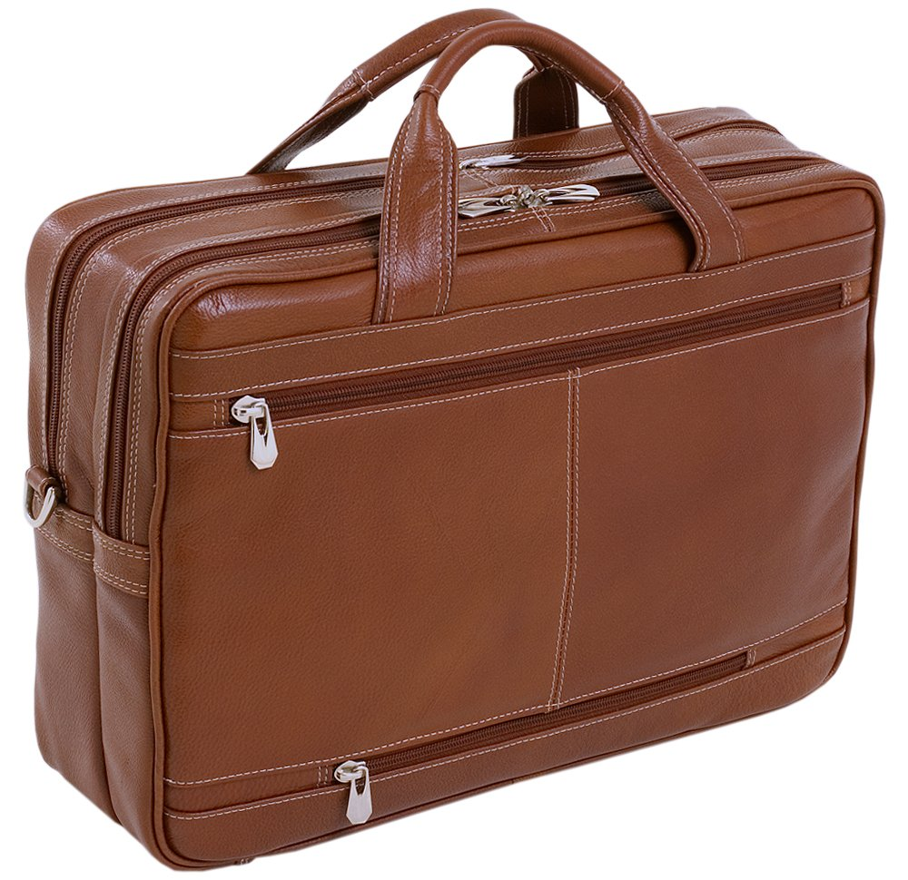 McKleinUSA Kenwood 15564 Brown Leather Double Compartment Laptop Case by McKleinUSA (Image #2)