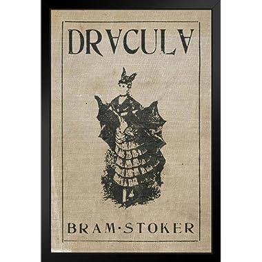 Pyramid America Dracula Bram Stoker Vintage Style Black Wood Framed Art Poster 14x20