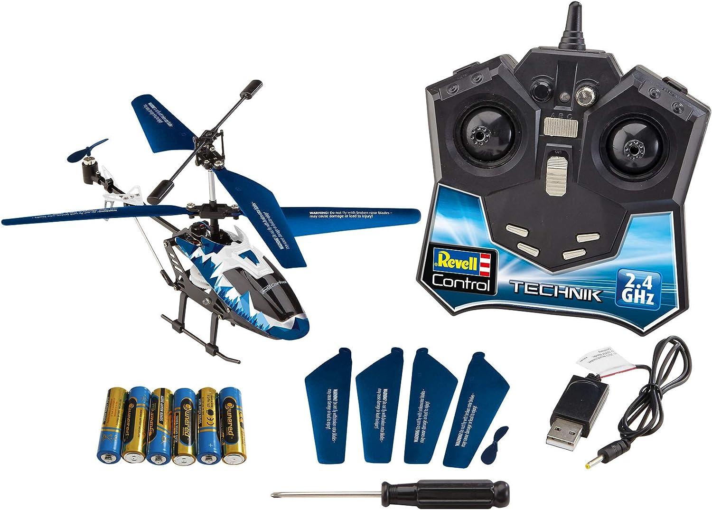 Revell Control 01020 RC Adventskalender Hubschrauber, ferngesteuerter RC Helikopter für Einsteiger zum Selberbauen, GHz Fernsteuerung, LED-Beleuchtung,...