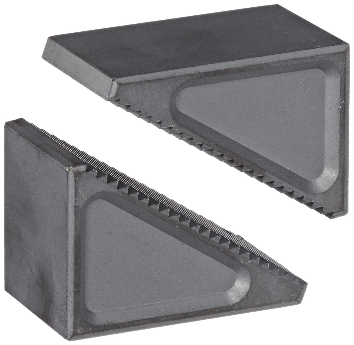 Te-Co 40105 2 Piece Steel Step Block Set, 1-1/2'' Thick, 1-43/64'' Width x 2-17/32'' Height, 1-3/4'' to 4'' Height Range