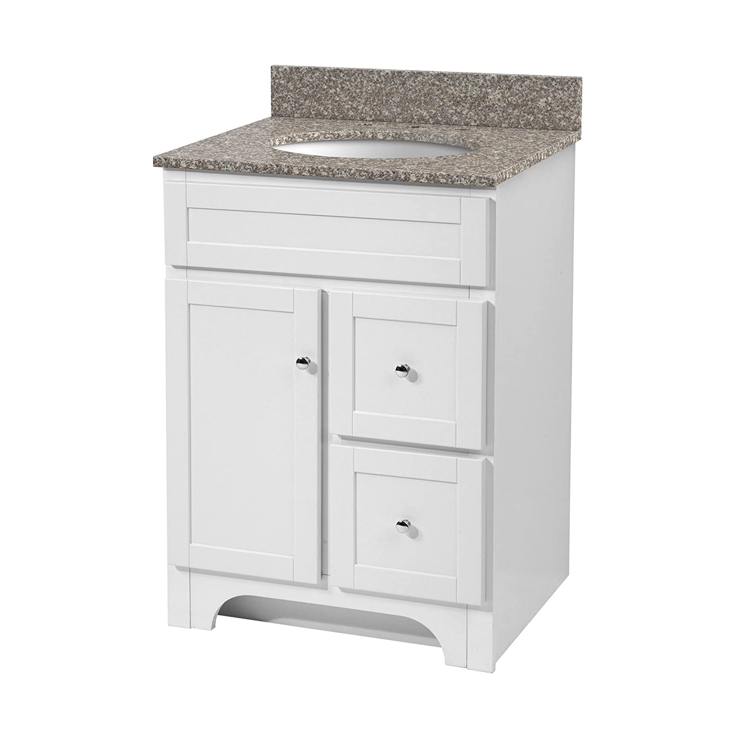 Amazon com  Foremost WRWA2421D Worthington 24 Inch White Bathroom Vanity   Home Improvement. Amazon com  Foremost WRWA2421D Worthington 24 Inch White Bathroom
