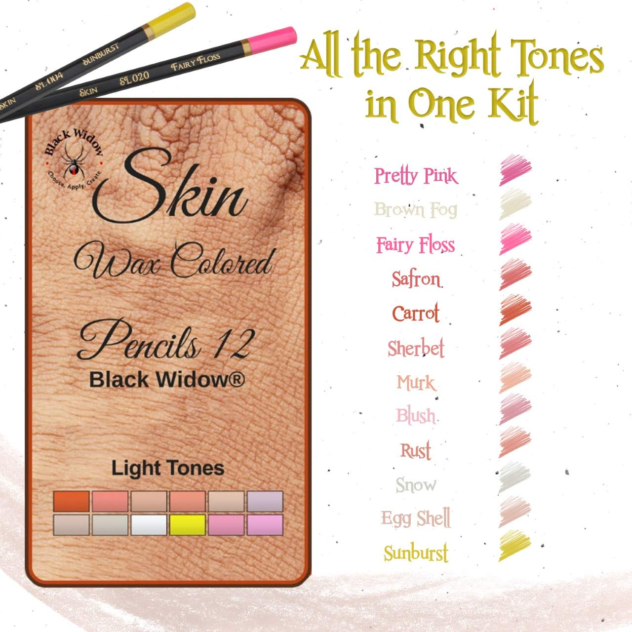 Light Skin Tone Color Pencils for Portrait Set - Colored Pencils for Adults and Skintone Artist Pencils by Medihealth 1 (Image #6)