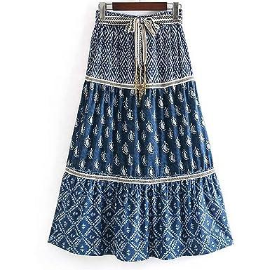 Availcx-Sexy Long Skirt Falda Boho de Vacaciones para Mujer Faldas ...
