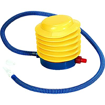 """8"""" Yellow and Blue Bright Portable Foot Pump for Pool: Toys & Games"""