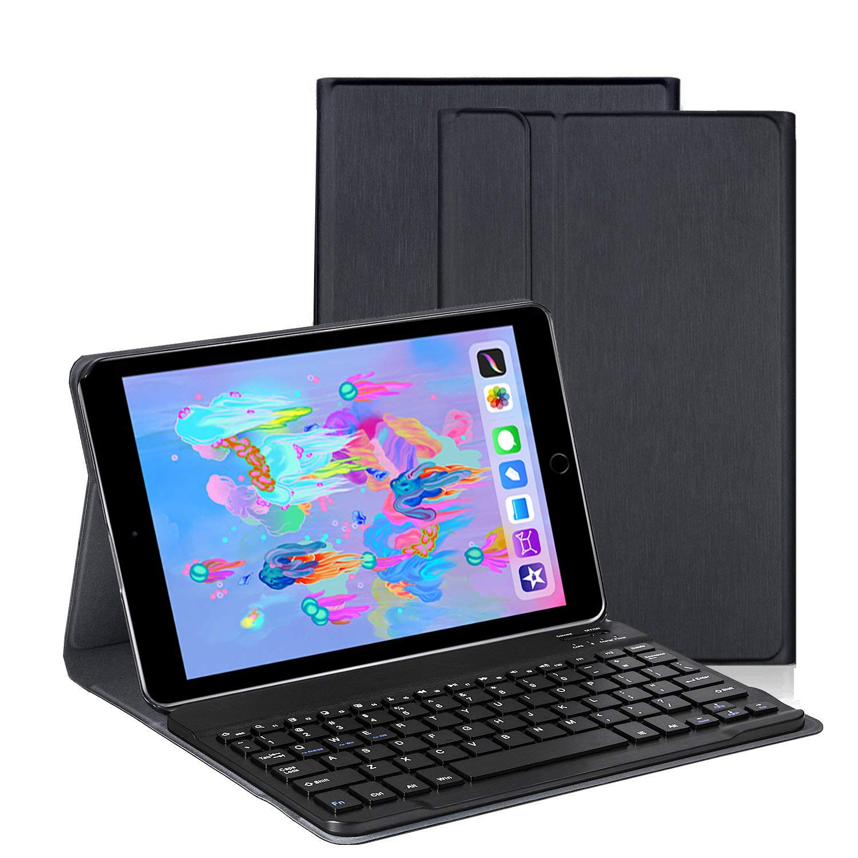 Aspecto cepillado Teclado Estuche iPad 9.7