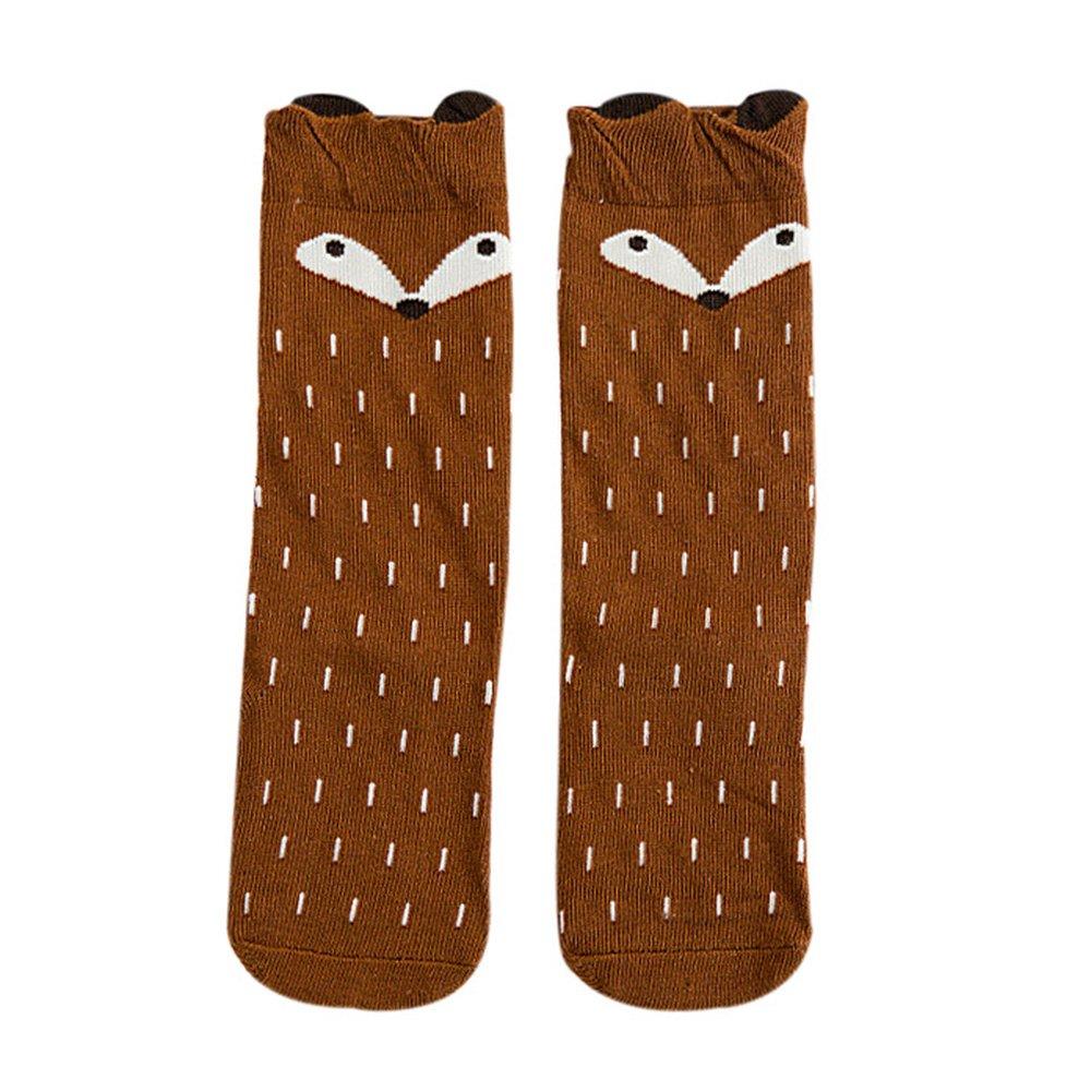 Baby Kids Girls Fashion Cotton Toddlers Fox Pattern Knee High Socks Stockings Greenlans