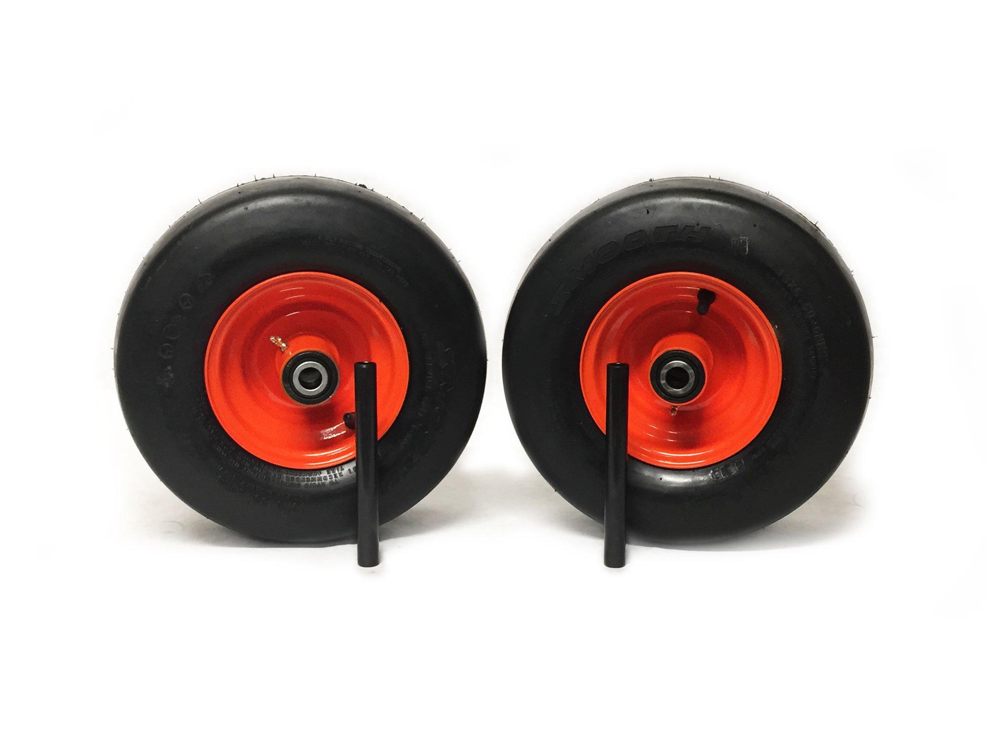 (2) Kubota Pneumatic Tire Assemblies 15x6.00-6 Fits ZD321, ZD323, ZD326, ZD331, ZG327, ZG 332 Replaces K3181-18032