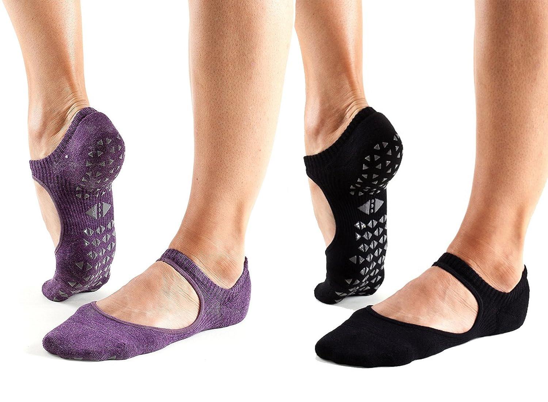 Yoga and Pilates 2 Pack Tavi Noir Chey Grip Socks for Barre