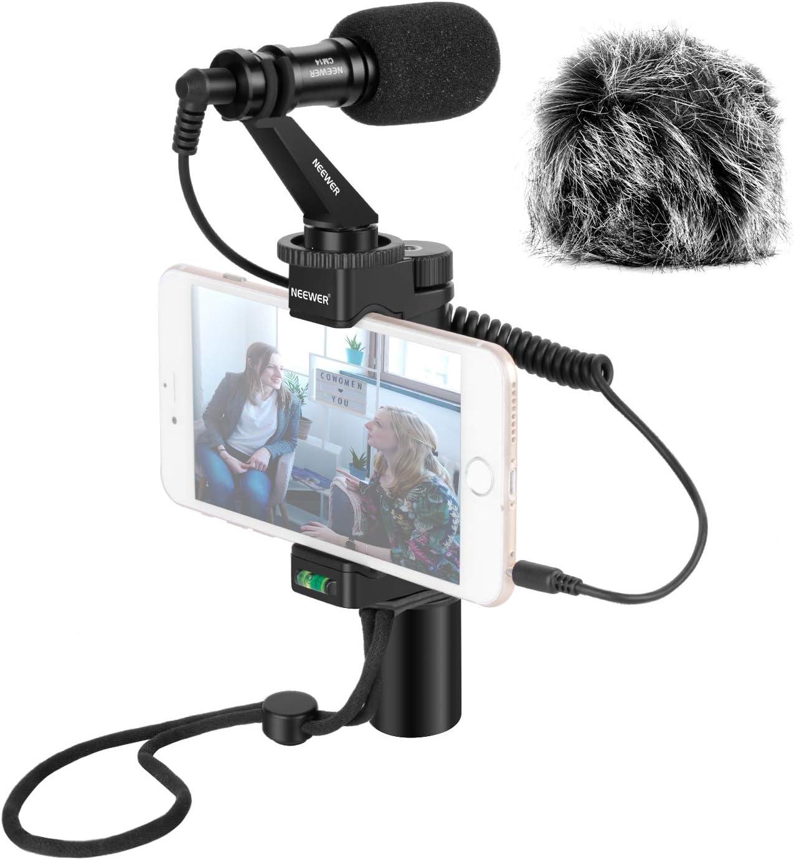 Neewer Plataforma Video para Smartphones con Micrófono de Pistola, Empuñadura, Correa de Muñeca para iPhone 5, 5C, 5S, 6, 6S, 7, 8, X, XS, XS MAX, Samsung Galaxy, Note y Más: Amazon.es: Electrónica