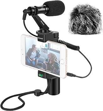 Neewer Plataforma Video para Smartphones con Micrófono de Pistola ...