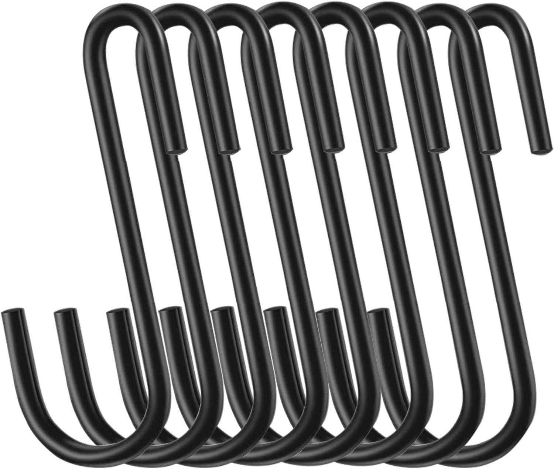 30-Pack 3 Inch Heavy Duty S Hooks Hanging Hangers Pan Pot Holder Rack Hooks S Shaped Hooks for Kitchen, Work Shop, Bathroom, Garden: Pans, Pots, Kitchenware, Utensils, Plants, Clothes, Towels