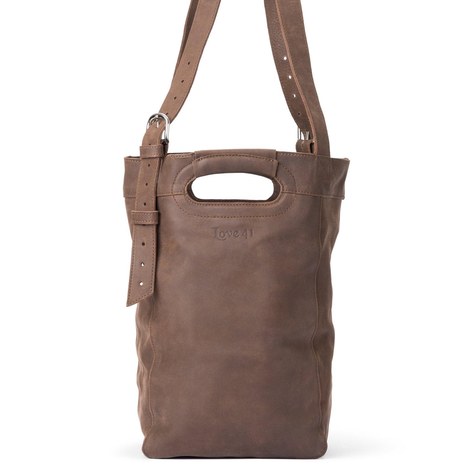 Love 41 Leather Bucket Bag (Dark Coffee) | Full Grain Leather 41 Year Warranty