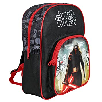 Mochila para niño de Star Wars - Bolso Escolar con Bolsillo Frontal con Estampado Kylo Ren - Bolsa ...