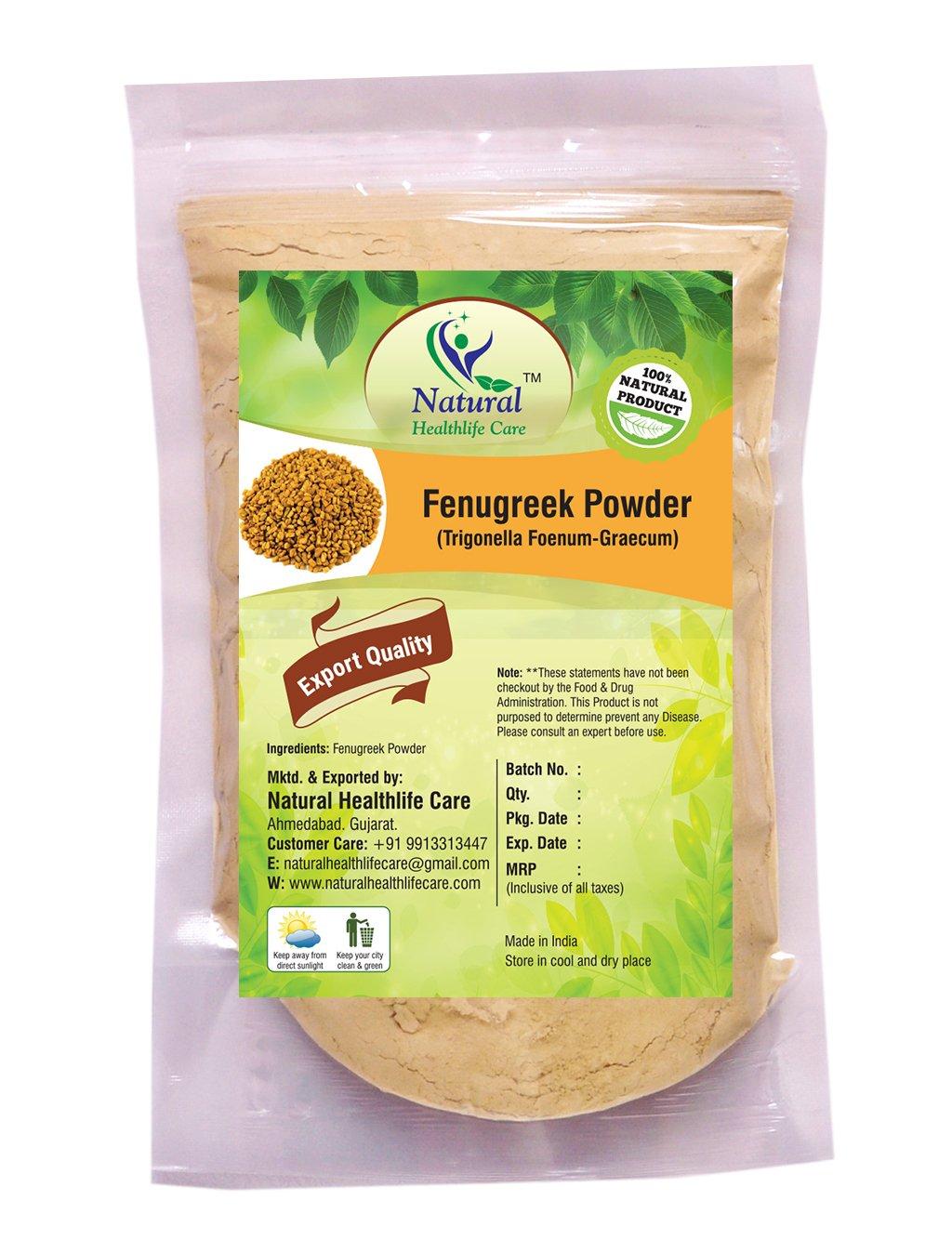 Natural Healthlife Care 100% Pure Natural Fenugreek Seeds (Trigonella Foenum Powder- Methi) Powder for LONG HAIRS NATURALLY(1/2 lb/8 ounces/227 g)