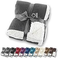 Manta de aspecto de piel de cordero Gräfenstayn® - Varios tamaños y colores - Manta para la sala de estar - Manta de…
