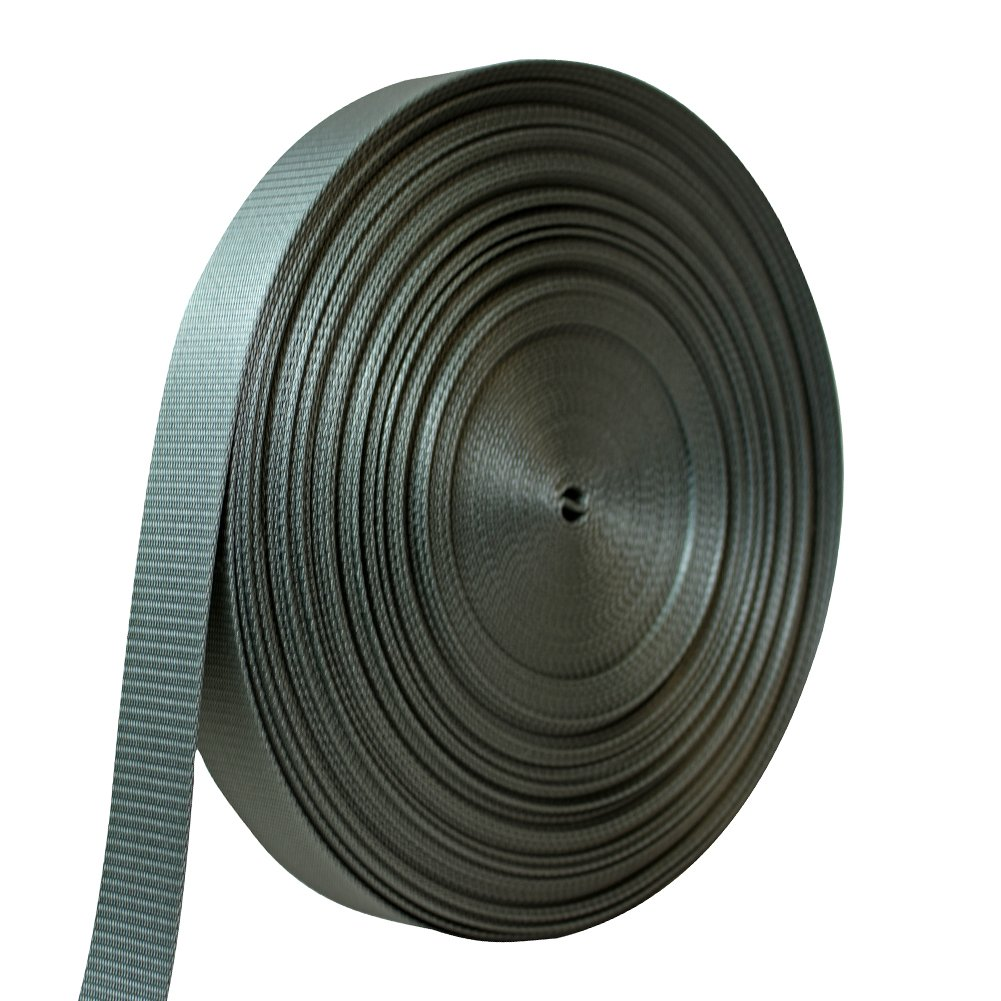 AMP 5000lbs Rated Heavy Duty Mil Spec Military Grade Nylon Fastening Webbing Strap 1.75'' Wide 50 Yards Foliage Green