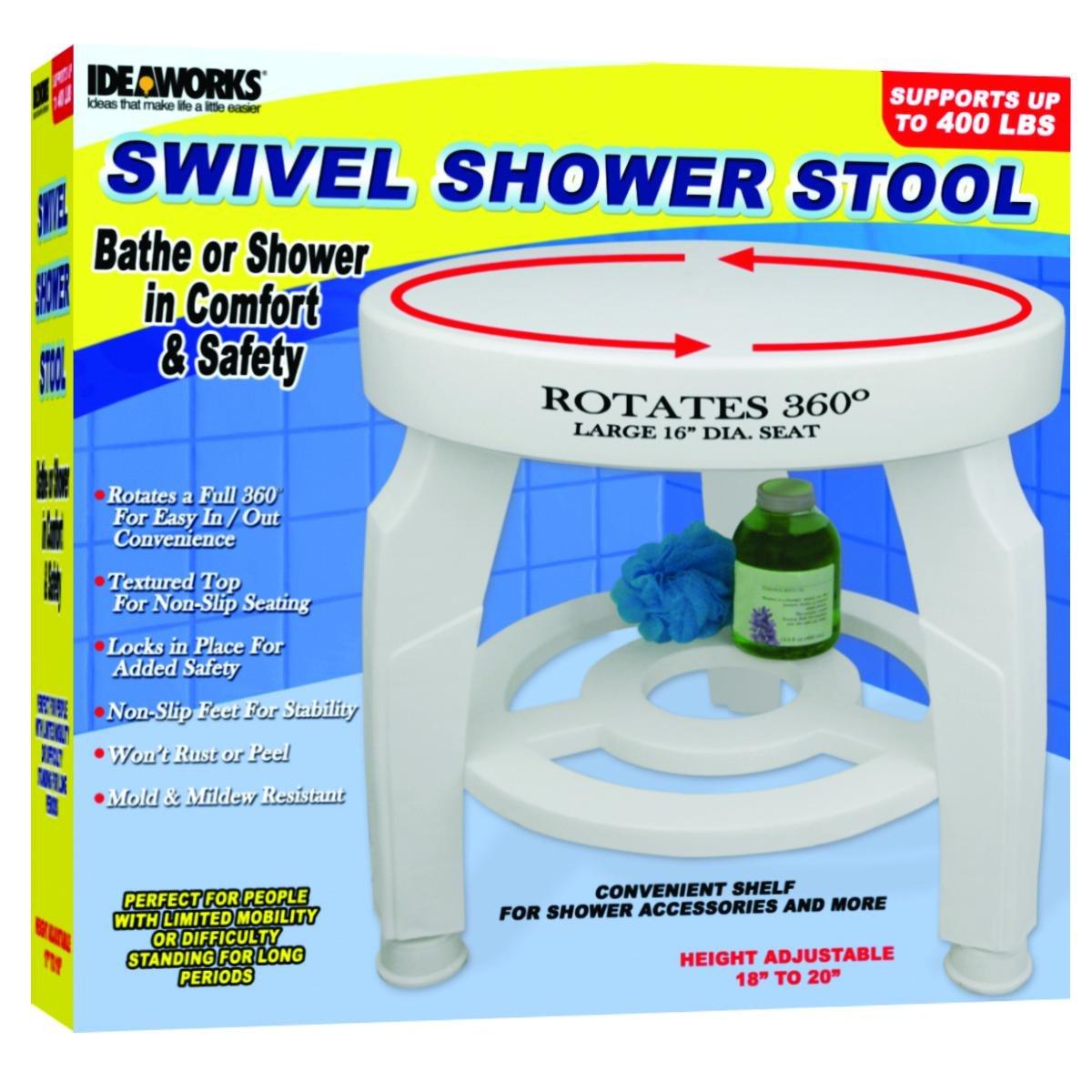 JIIJB5596 - Swivel Shower Stool, 16-1/2 dia. Seat, Height Adjustable from 17 - 19