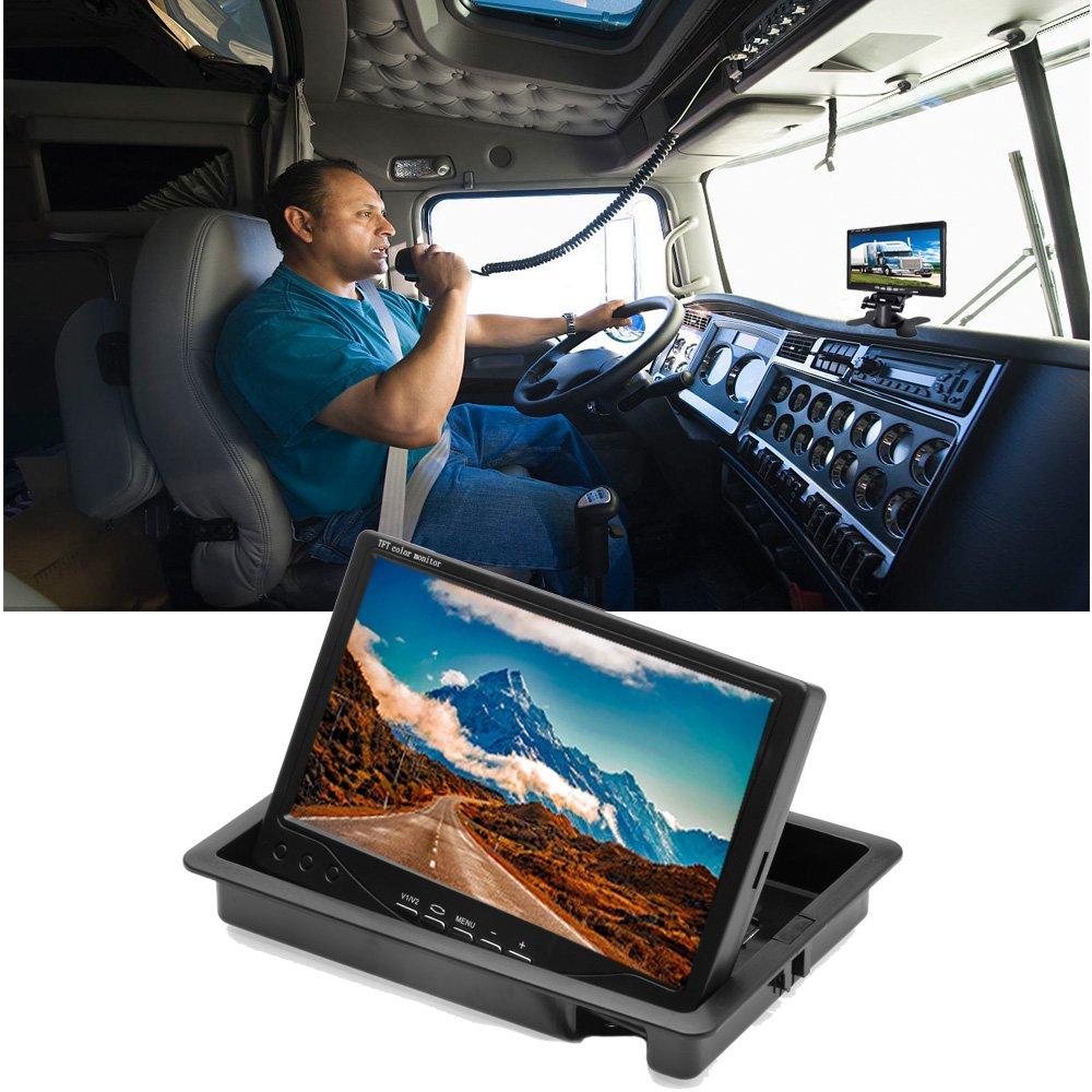20/Pin Aviation Video Kabel podofo Auto Backup Kamera Wasserdicht 18/IR LED Nachtsicht R/ückfahrkamera 17,8/cm TFT Monitor Fahrzeug Parking System f/ür RV//Bus//Anh/änger//LKW