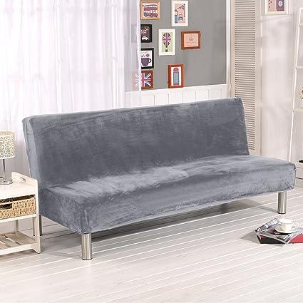 Fastar funda de clic-clac elástica, cubre /protector sofá de 3 plazas,color sólido (Gris-plata(Más grueso))