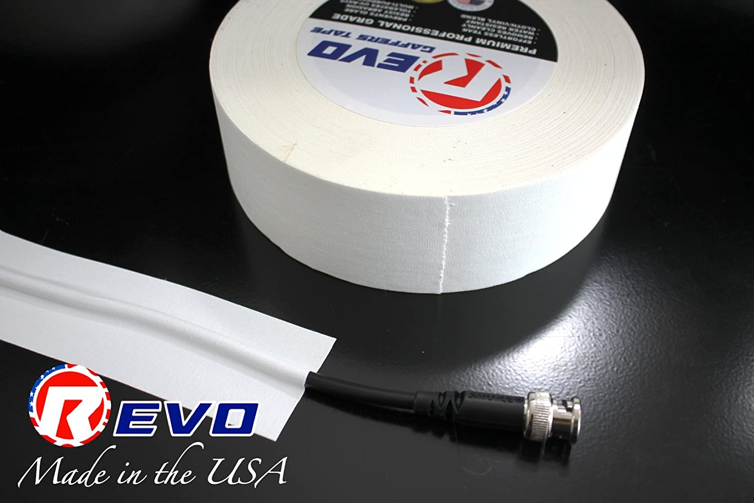 REVO Premium Professional Gaffers Tape Made in USA Camera Tape-Better Than Duct Tape Single ROLL Yellow GAFFERS 2 x 60yds