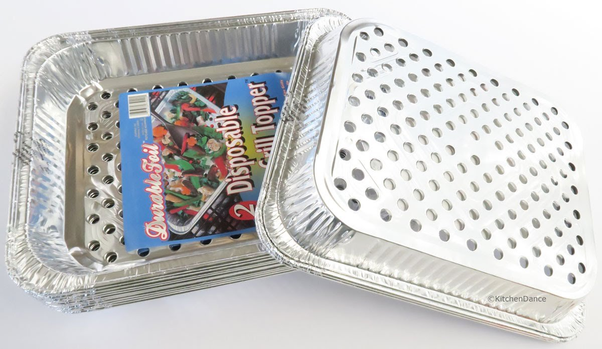 Durable Disposable Aluminum BBQ Grill Toppers/Grill Woks (20) by Durable Packaging (Image #4)