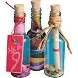 S&S Worldwide Plastic Sand Art Bottles with Cork (Pack of 24)