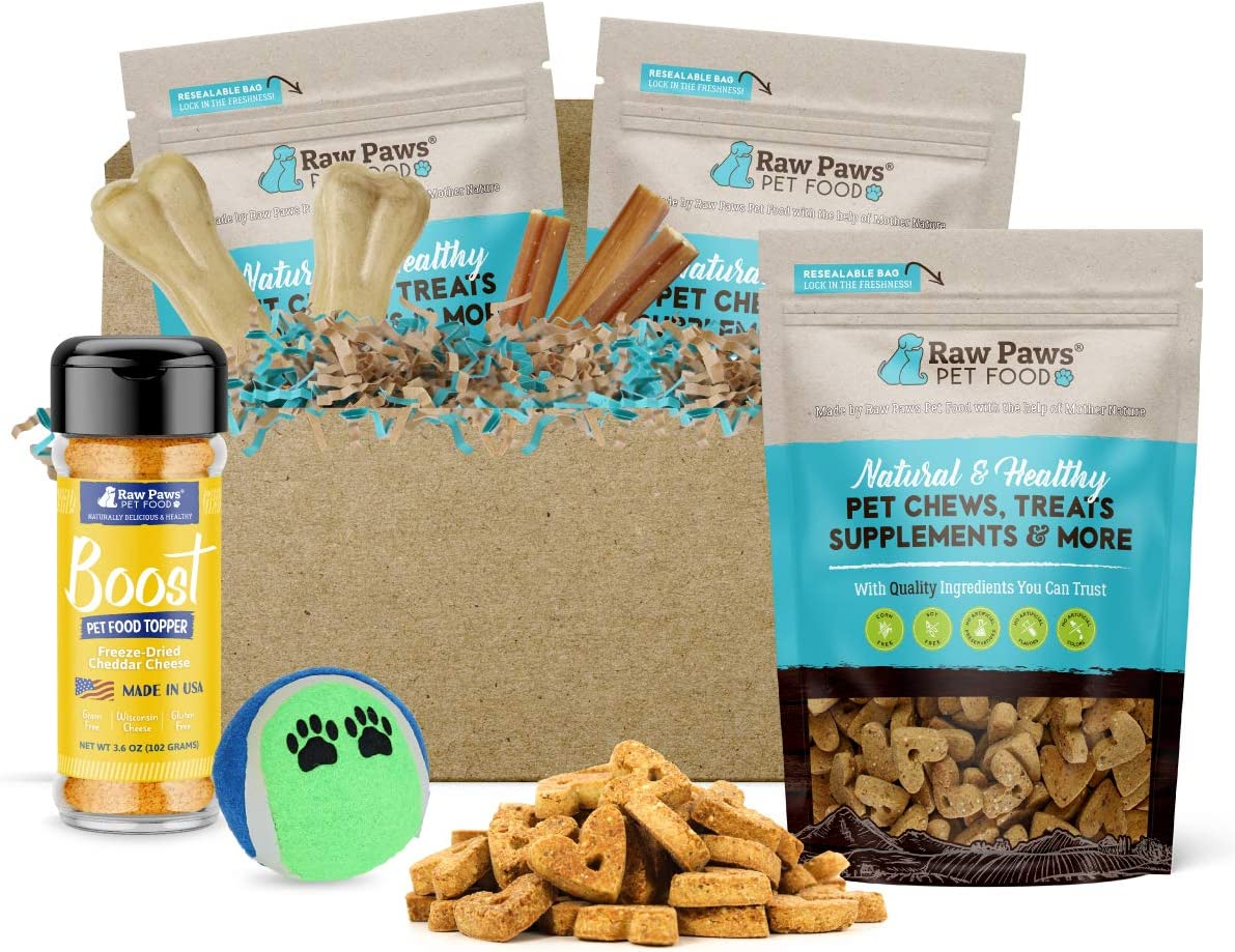 Amazon Com Raw Paws Christmas Dog Gift Set Ready To Give Holiday Dog Lovers Gifts For Your Boss Clients Colleagues Friends Or Pet Sitter Dog Xmas Gifts For Large Dogs Dog