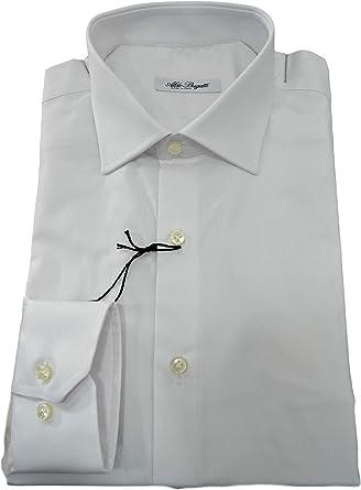 ALDO BUGATTI Camisa hombre regular fit tejido elástico blanco 10270: Amazon.es: Ropa y accesorios