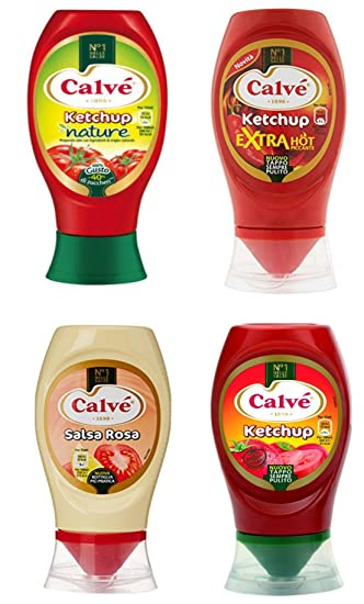 Calvé: Set of Four Dressing Sauces (Ketchup Nature,Salsa Rosa, Ketchup Extra
