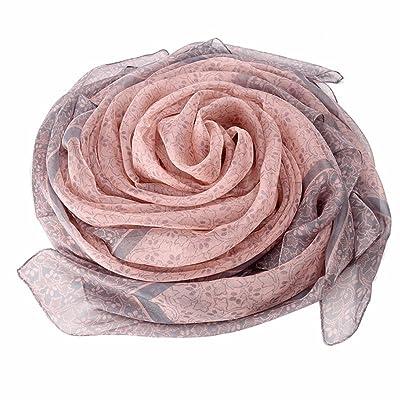 FLYRCX Les femmes Foulard en Soie de mûrier naturel pour garder au chaud et de la crème solaire châle multifonction 140cmx140cm
