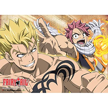1eded8286a Amazon.com  Fairy Tail Laxus   Natsu Fight Wall Scroll  Posters   Prints