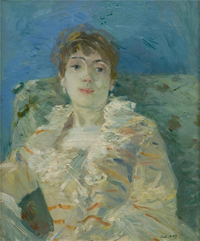 Amazon.com: 'Berthe Morisot chica en un diván' pintura al óleo, 24 x 29  inch/24 x 28.7 inch, lona impreso en efecto perfecto, este réplica Art  DecorativeCanvas Prints es perfectamente apta para cine