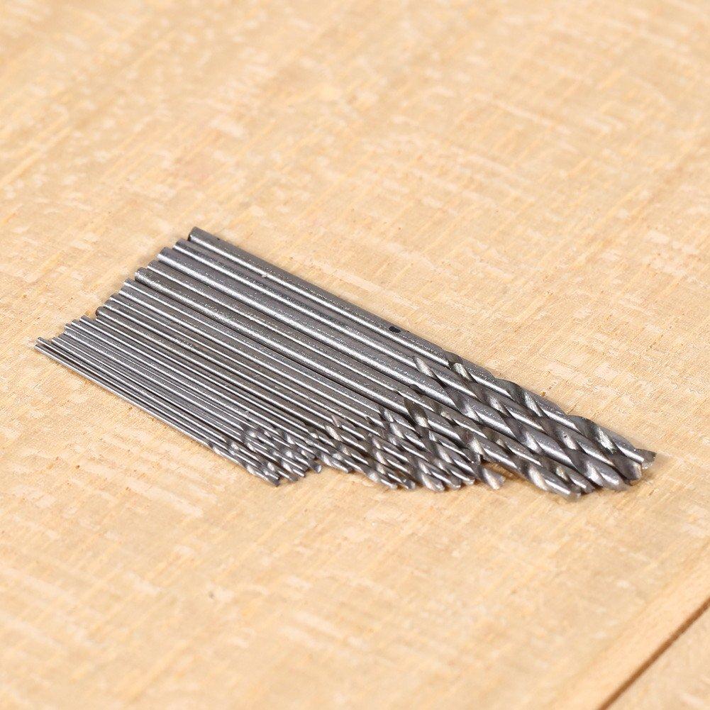 Starnearby Lot de 20/mini forets en acier haute vitesse HSS Micro Twist de forets 0,3/mm-1