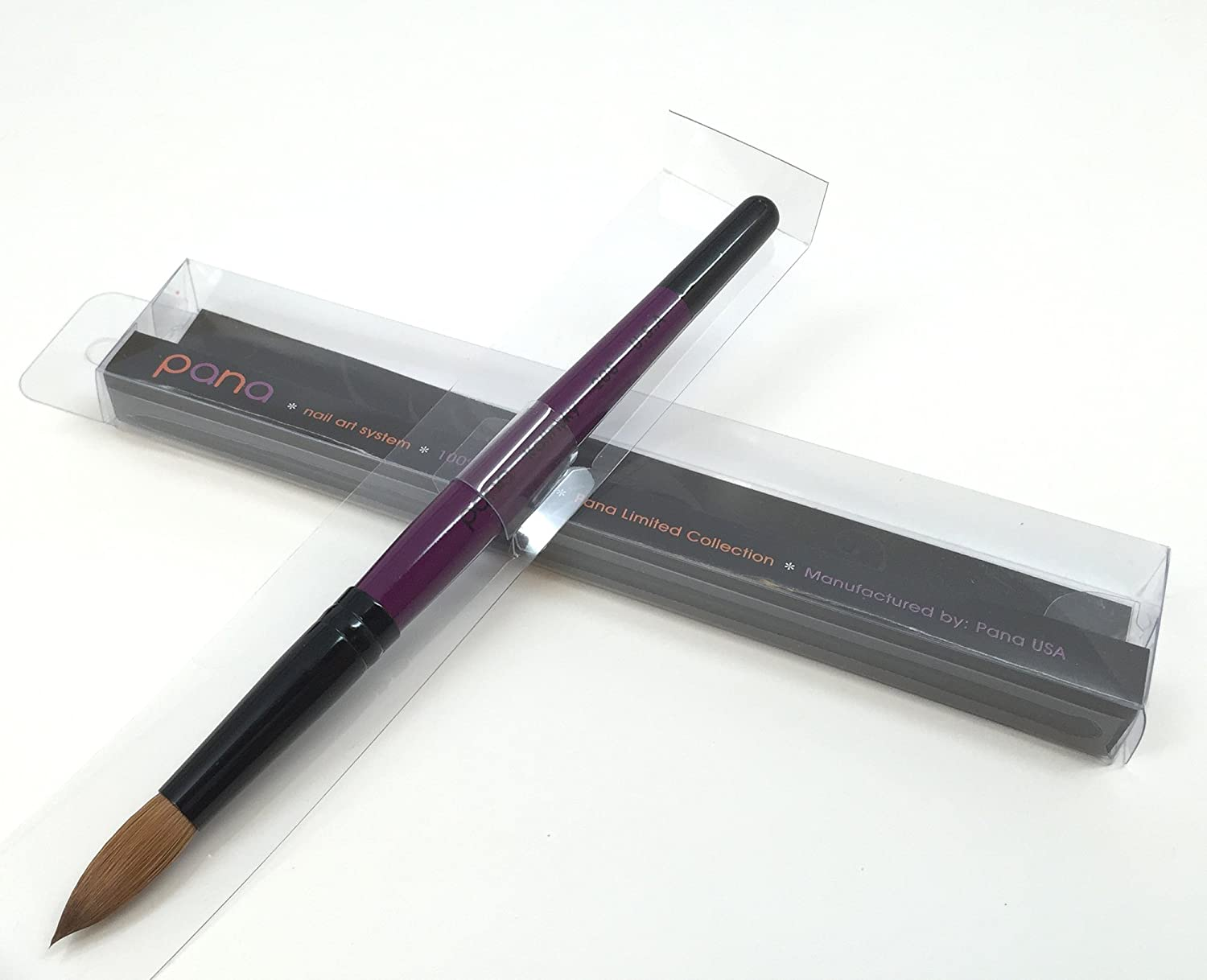 Amazon.com : Profession Purple Wood Kolinsky Acrylic Nail Brush ...