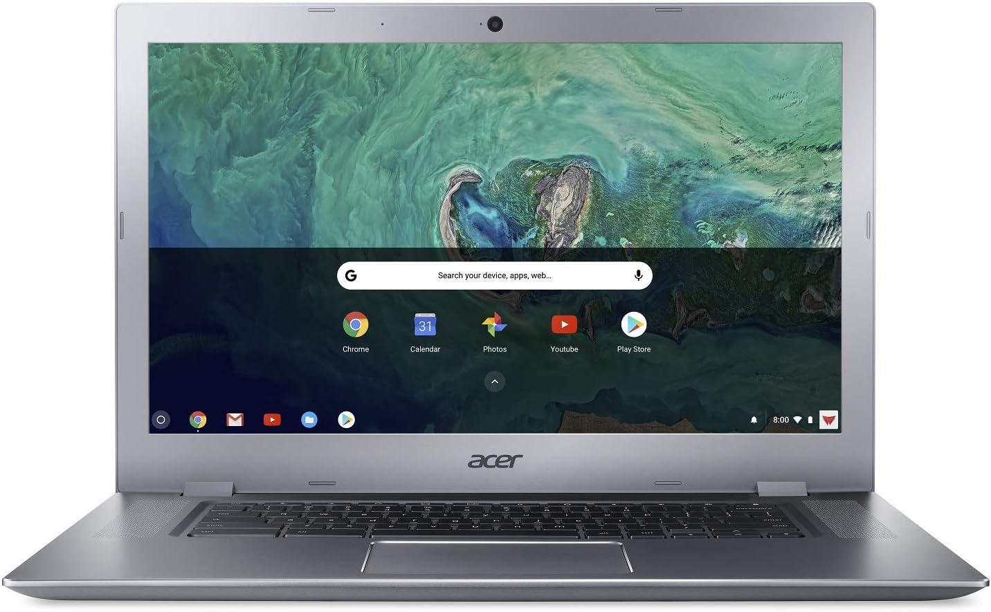 "Acer Chromebook 15 CB315-1HT-C4RY, Intel Celeron N3350, 15.6"" Full HD Touch Display, 4GB LPDDR4, 32GB eMMC, 802.11ac WiFi, Bluetooth 4.2, Google Chrome (Renewed)"