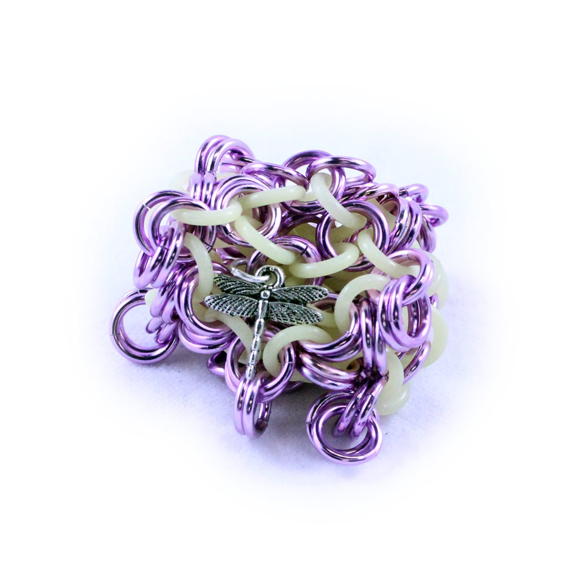 Dragonfly Footbags Purple Glow in the Dark 22 Gram Chainmail Footbag (Hacky Sack) by Dragonfly Footbags