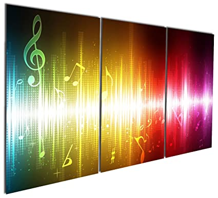 Amazon.com: Gardenia Art - Beating Music Notes Canvas Wall Art ...