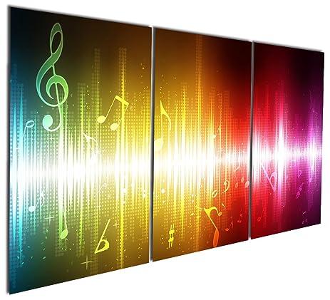 Amazon.com: Gardenia Art - Beating Music Notes Canvas Wall Art ...