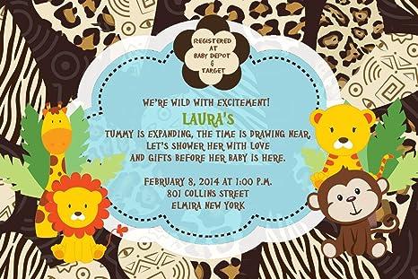 amazon com safari baby shower shower invitations birthday party