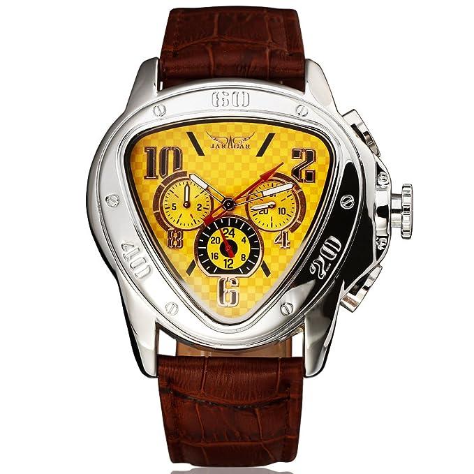 Amazon.com: JARAGAR Top Luxury Brand Watch Men Automatic Mechanical Men Watches Fashion Leather Clock Men Wristwatch Relogio Masculino: Watches