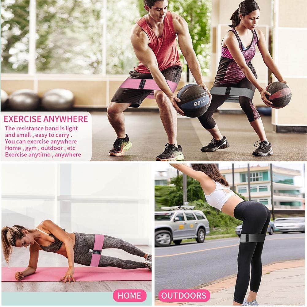 Pilates Estiramientos Crossfit Entrenamiento de Fuerza Bandas de Resistencia Bandas Elasticas de Fitness Tela Bandas Elasticas de Fitness Antideslizantes Bandas para Yoga Fisioterapia