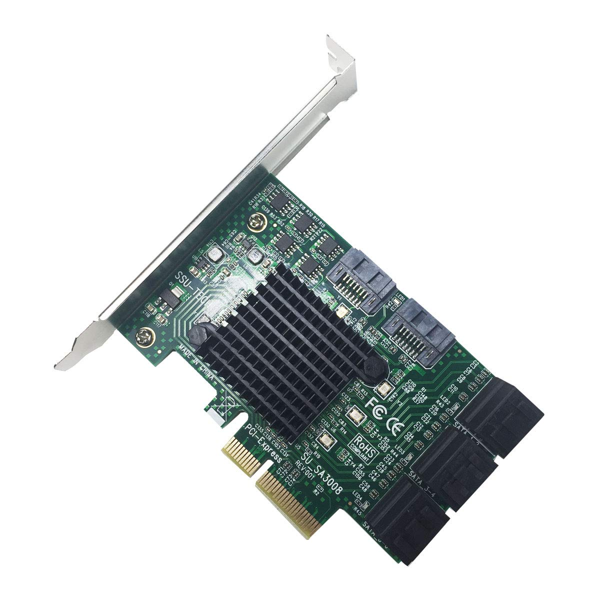 GLOTRENDS PCIe 2.0 X2 to SATA III 8 Ports Adapter Card (ASM Chipset) for IPFS Mining and Adding SATA 3.0 Devices (SA3008) by GLOTRENDS (Image #5)
