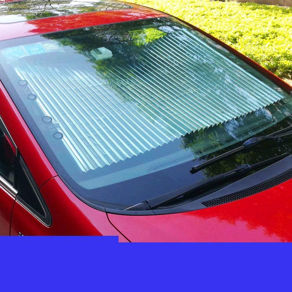 Leoboone Automatic Retractable Windshield Sunshade Mehr Gr/ö/ße Telescopic Car Front Sonnenschutz Summer Rear Auto Visier Car Verhindern Sie Hitze